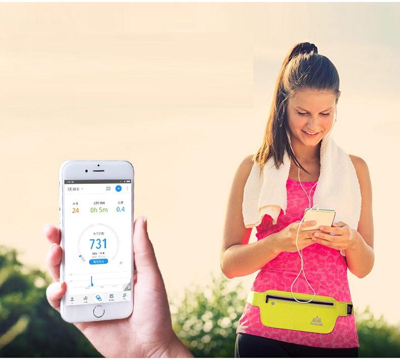 AONIJIE Runnning Waist Bag Men Women Sport Waist Pack Jogging Gym Fitness Running Belt Bag Phone Holder Sport Accessories 7