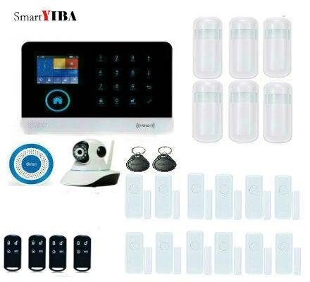 SmartYIBA WIFI APP Remote Control HD Camera RFID Card Arm Disarm GSM Alarm System Wireless Siren Motion Detection Alarms