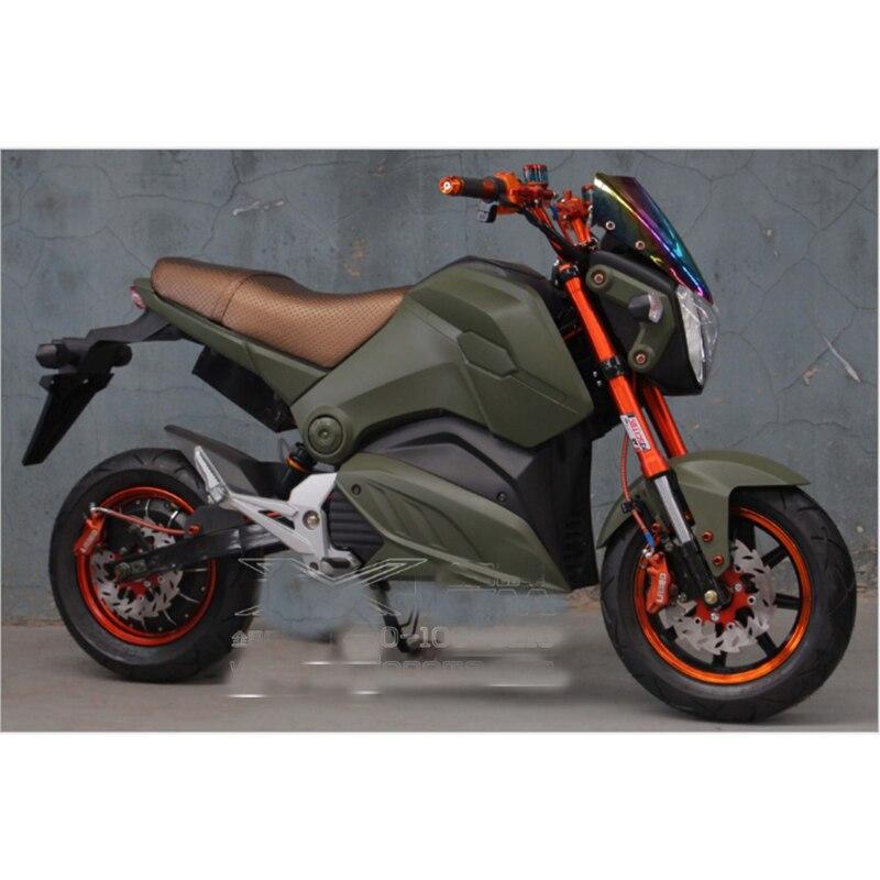 Moto vélo électrique citycoco scooter électrique simple personne 60 km 2000 W batterie au lithium 72V20A motos électriques e vélo