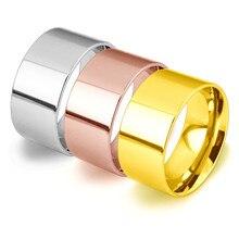 5-16 размеров, 3 цвета, 316L, нержавеющая сталь, широкие кольца, спортивные, мужские, простые, мужские ювелирные изделия, кольцо, Глод, лето,, бизнес подарок для мальчика