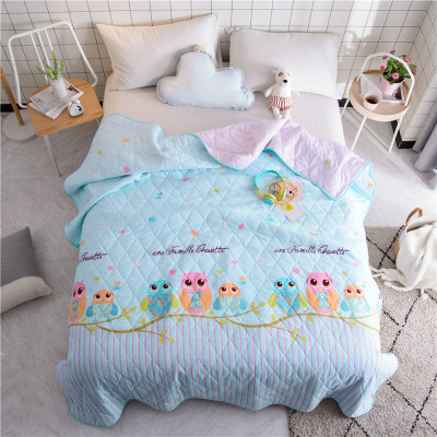 2019 New Owl Fish Flamingo Summer Quilt Blankets Cartoon Comforter Bed Cover Quilting for Adults Kids