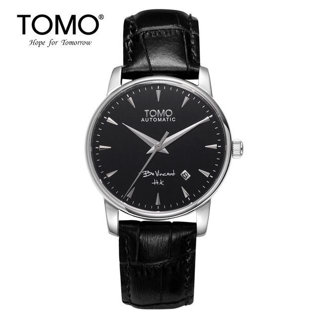 Tomo Mechanical Watch Casual Male Table Commercial Ultra-thin Cutout Male Watch Strap Table Waterproof Watch Vintage Table