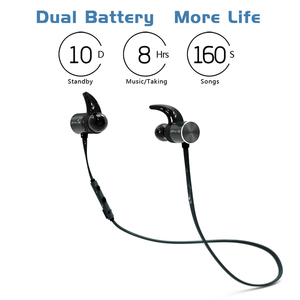 Image 2 - Dual סוללה יותר חיים Bx343 אלחוטי Bluetooth אוזניות מתקפל אוזניות סטריאו אודיו IPX5 מים אוזניות Oreillette עם מיקרופון