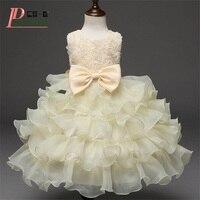Vestido bloem baby prinses dress bruiloft verjaardag infant meisjes kleding pasgeboren peuter doop jurken baby kant tutu dress