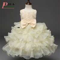 Vestido Flower Baby Princess Dress Wedding Birthday Infant Girls Clothes Newborn Toddler Baptism Dresses Baby Lace