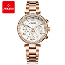 2017 New Watch Relogio Feminino Female Clock Auto Day Date 24 Hour Stainless Steel Silver Gold Women Fashion Casual Watch JA-950