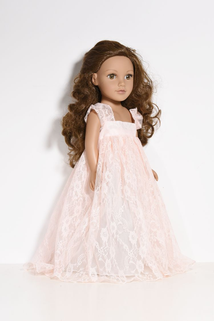 18 inches lace long dress for American Girl Doll DOLL Accessories