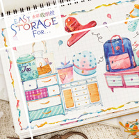 2pc/lot Watercolor case bag Bottle File buckle Cabinet Box pot Clip needle seal Washi Tape DIY Planner Scrapbooking Masking Tape