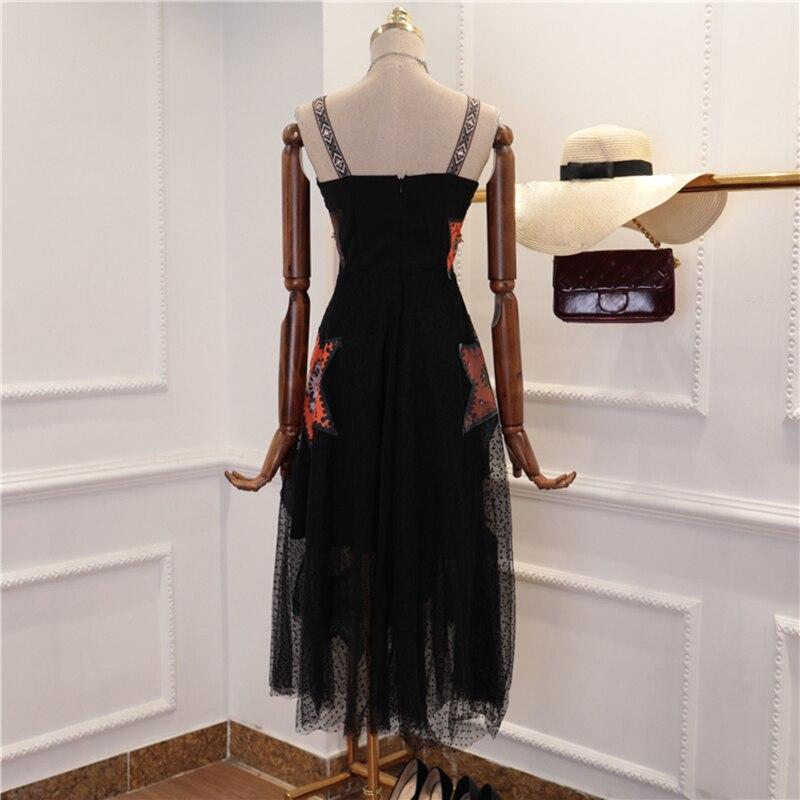 Mode Femmes Mi De Designer Robe Gaze Piste Courroie Gaine Nouvelle mollet 2018 45ARj3L