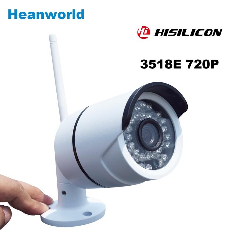 ФОТО Wireless 1.0 Megapixel IP Camera wifi outdoor HD 720P Waterproof home security network ir video cam P2P  3.6mm lens