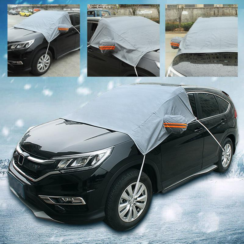 New Car Windshield Cover Heat Sun Shade Anti Snow Frost Ice Dust Cotton Cover Window Mirror Protector Suitable for Four Season
