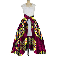Fashion Cotton Bow Knot Skirts African Wax Print Skirts for Women Vestidos Bazin Riche Traditional African Women Clothing WY3052