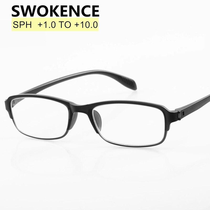 30999235de SWOKENCE TR90 marco gafas de lectura gafas de presbicia dioptrías + 100 a  400, 450, 500, 550, 600, 650, 700, 750, 800 850, 900, 950, 1000 R130