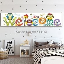 Diamond Mosaic Embroidery Diy 5d Diamond Painting Welcome Home Picture Cross Stitch Embroidery Diamond Wall Stickers Home Decor wall art 5d diy diamond embroidery rhino tail diamond painting cross stitch full diamond mosaic animals home decor craft picture
