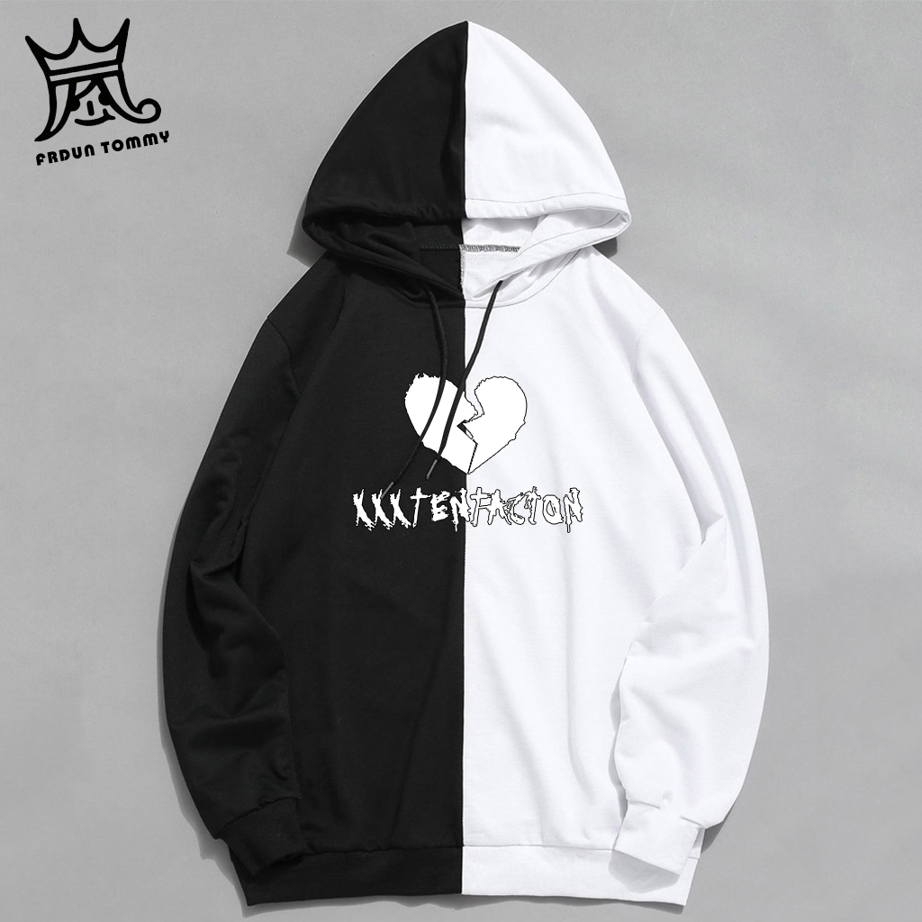 Xxxtentacion Hoodies Men Women Fashion Patchwork Sweatshirt Streetwear Long Sleeve Women Clothes Hip Hop Top Plus Size 4XL