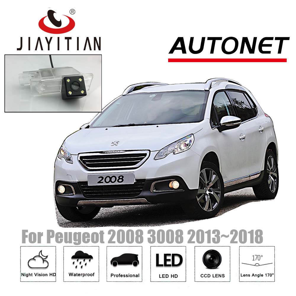 JiaYiTian rear camera for Peugeot 2008 3008 2013~2018 CCD Night Vision Reverse Camera backup camera license plate lamp camera jiayitian rear camera for chevrolet orlando 2010 2017 ccd night vision backup camera reverse camera parking license plate camera