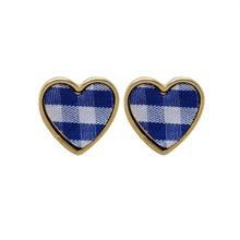 Geometric heart-shaped earrings Fashion ladies and fresh Simple fashion cloth art