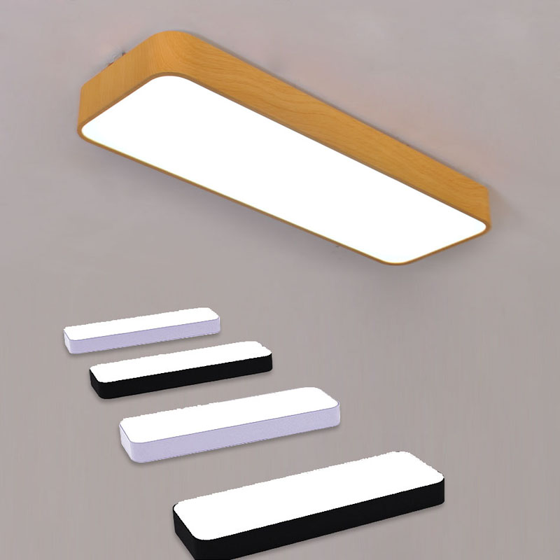 wood color patent rectangular balcony lights modern aisle hallway light aluminum cheap office lighting