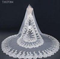 3 3M White Ivory Sequins Blings Wedding Veil Long Bridal Veil Head Veil Wedding Accessories