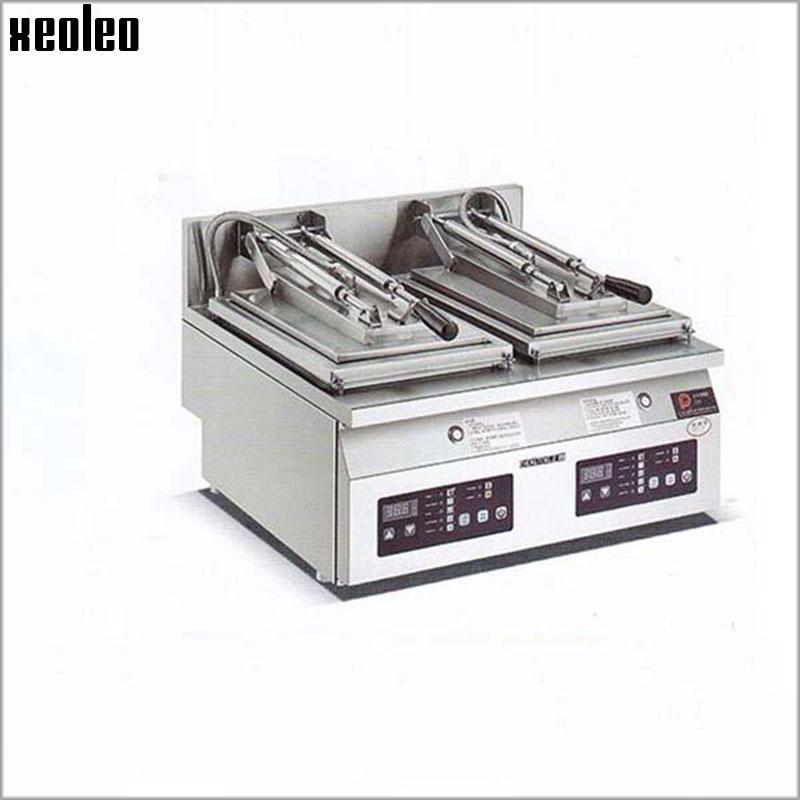 XEOLEO Double pan Dumpling Fry machine Electric Frying pan Dumpling fryer Water frying bun machine 3KW*2 Electric Skillet электрическая варочная панель bosch pkm646fp1r pkm646fp1r