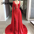 Arabic Red Lace <font><b>Evening</b></font> <font><b>Dresses</b></font> 2018 Aibye Muslim Luxury Formal Tulle Long Party <font><b>Dress</b></font> Turkish Prom Kaftans Gowns Robe de soiree
