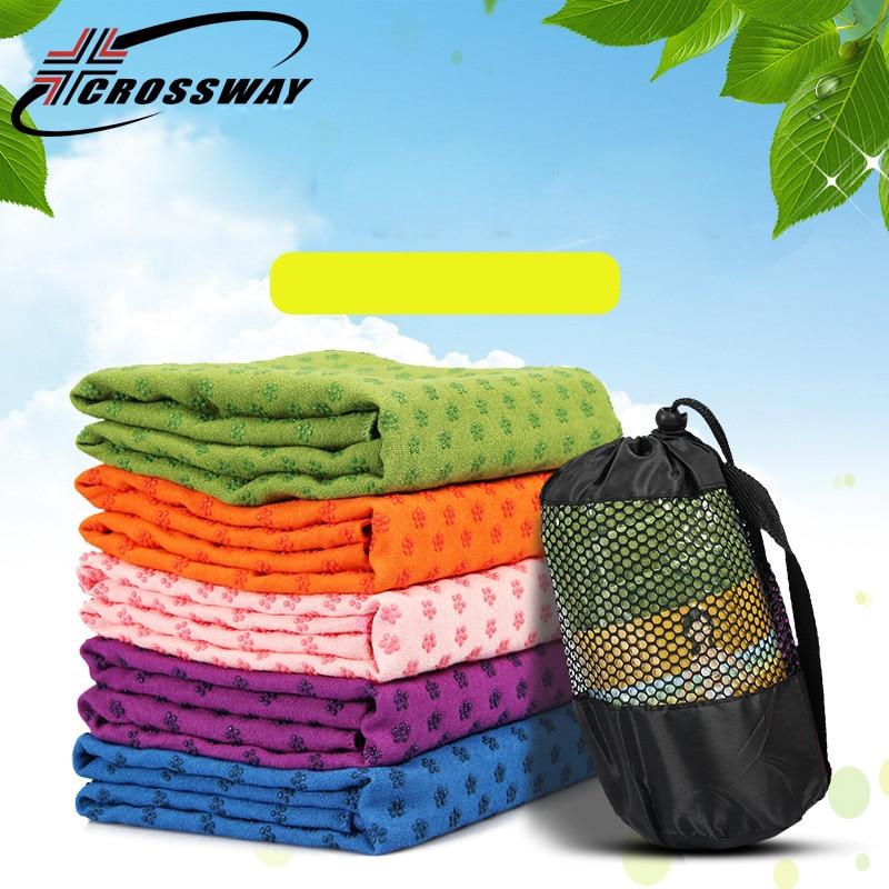 Travel Yoga Mat Or Towel: CROSSWAY Yoga Mat Towel Fitness Yoga Blanket Sport