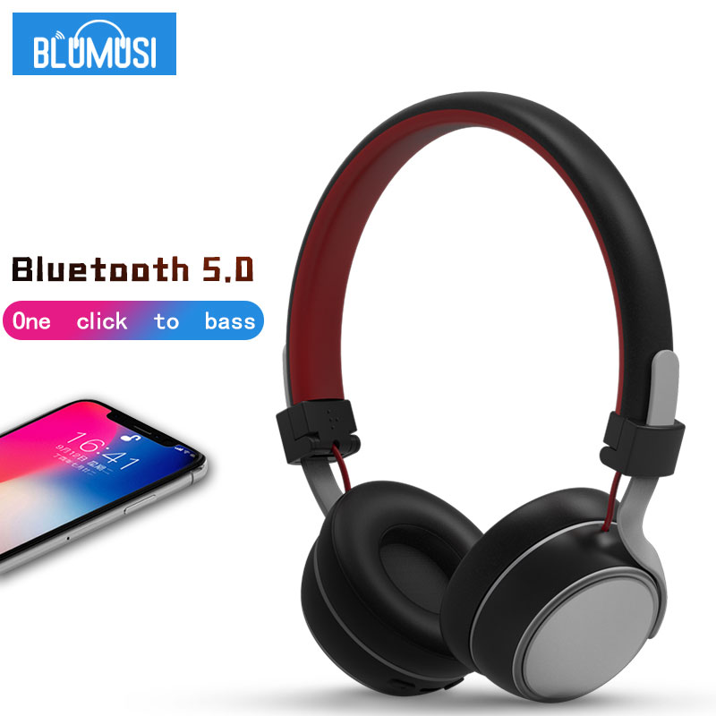 Wireless Headphones Bluetooth 5.0 Headset High Quality Stereo Music Earphone With Bass And Soft Earmuffs For Smartphone