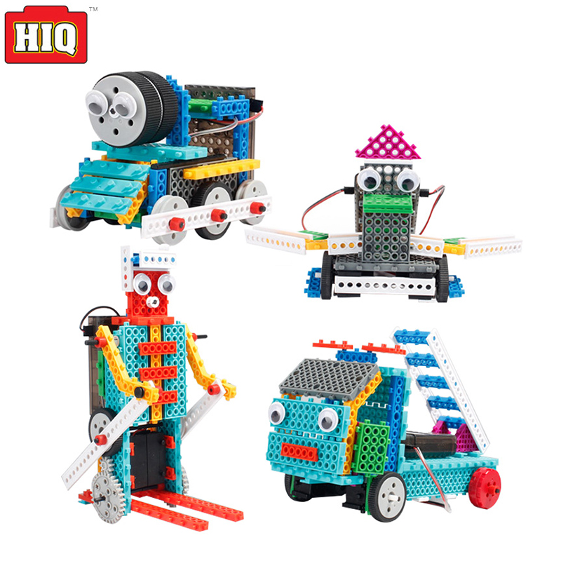 Train Truck Building Blocks Remote Control Toys 4in1 DIY Educational Toys For Children