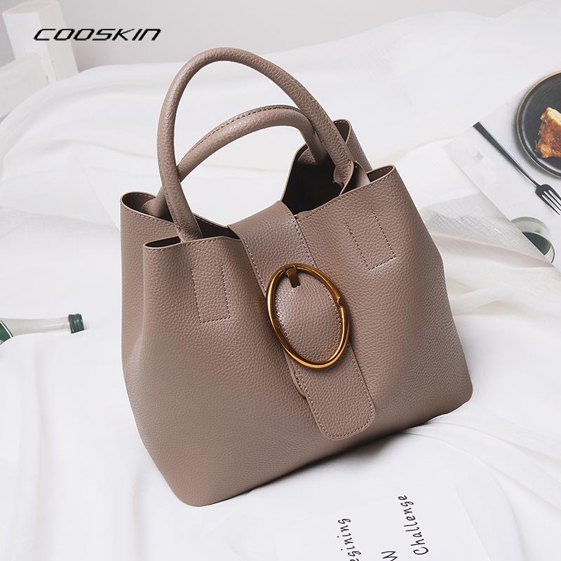 Cooskin Luxury Retro Vintage Bag Designer Handbags High Quality Cute Women Leather Famous Brand Tote Shoulder Office Hand Bag cooskin luxury retro vintage bag designer handbags high quality cute women leather famous brand tote shoulder office hand bag