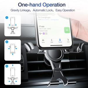 Image 5 - FLOVEME Gravity uchwyt samochodowy na telefon do telefonu w stojaku samochodowym uchwyt samochodowy na telefon komórkowy do iPhone X 7 wsparcie Smartphone Voiture