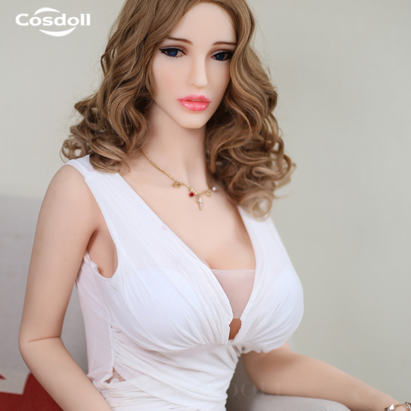 цена Cosdoll 158cm/165cm Realistic Soft TPE Sex Doll for Women European Face Sex Toys with Big Breasts Ass