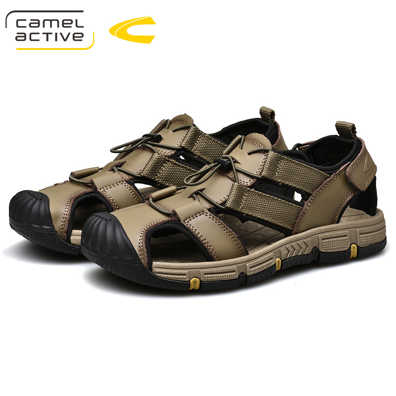Camel Active 2019 New Genuine Leather Quick-Dryin Sandals Summer Quality Casual Sneakers Anti-Slippery Outdoor Beach Shoes 19353