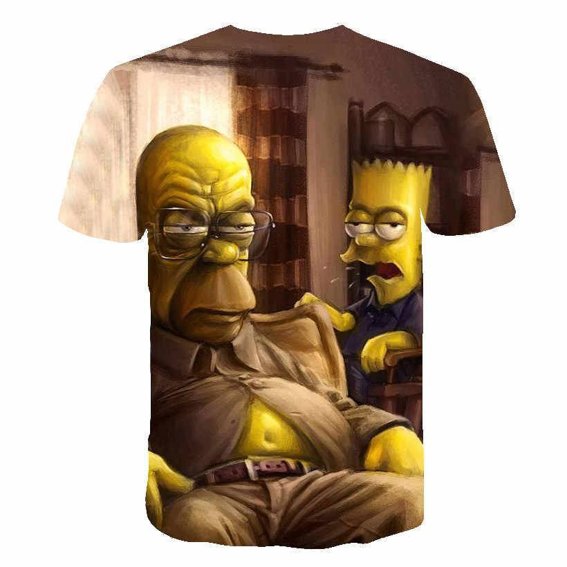 ファッション 3D プリントトップス 2019 最新の男性人格の漫画エレガントなパターン Tシャツ夏新カジュアル通気性の男性トップス te