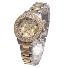купить A144 G&D Luxury Gold Women Quartz Wristwatches Stainless Steel Lady Bracelet Watches Relojes Mujer Relogio Feminino Dress Watch дешево