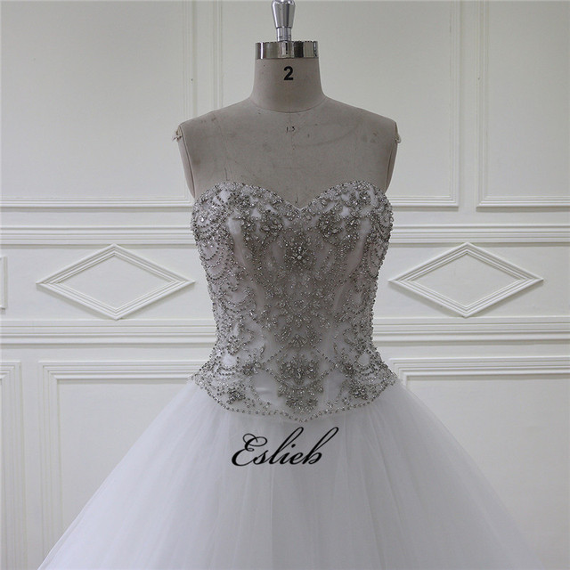 Aliexpress.com : Buy Sparkling Sweet Heart Wedding Dress A Line ...