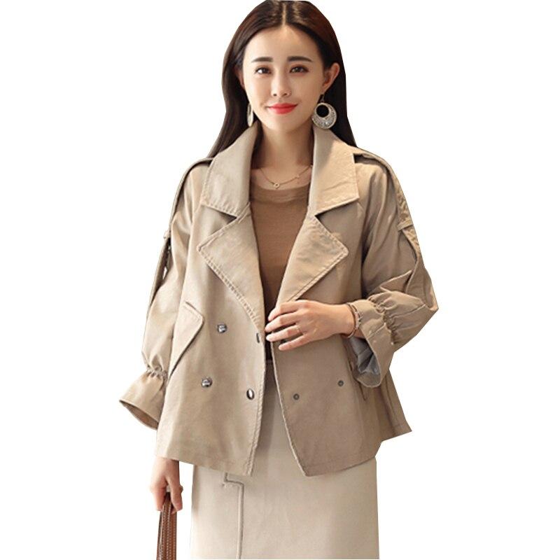 Women Short Leather Jacket 2018 Autumn New Loose Thin Korean Suit collar Locomotive PU Leather Fashion Female outwear Coat YL302