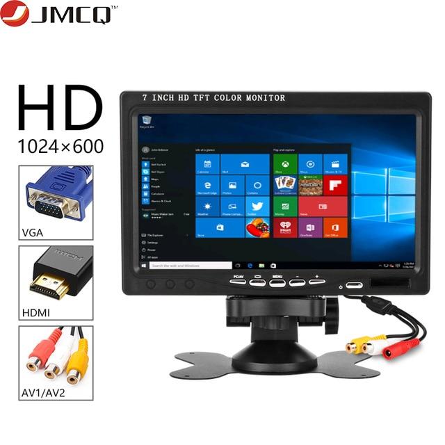 """Otomobiller ve Motosikletler'ten Araba Monitörleri'de 7 """"yüksek çözünürlüklü LCD IPS Mini bilgisayar ve TV ekran CCTV güvenlik gözetim ekran monitörler HDMI / VGA / Video ses araba monitör title="""