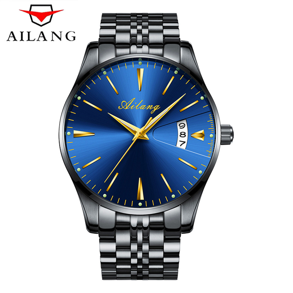 AILANG Mens Watches Top Brand  Luxury Men Automatic Mechanical Watch Fashione Clock Male Reloj Hombre Relogio Masculino 2017 mens watches top brand luxury 2017 aviator white automatic mechanical date day leather wrist watch business reloj hombre