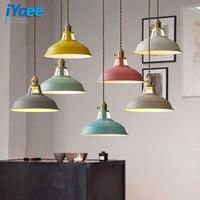 معكرون الأزياء الملونة الخشب قلادة الأنوار lamparas التصميم الحديث الظل الإنارة أضواء قلادة مصباح غرفة الطعام