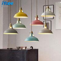 Macaron Fashion Colorful Modern Wood Pendant Lights Lamparas Minimalist Design Shade Luminaire Dining Room Lights Pendant