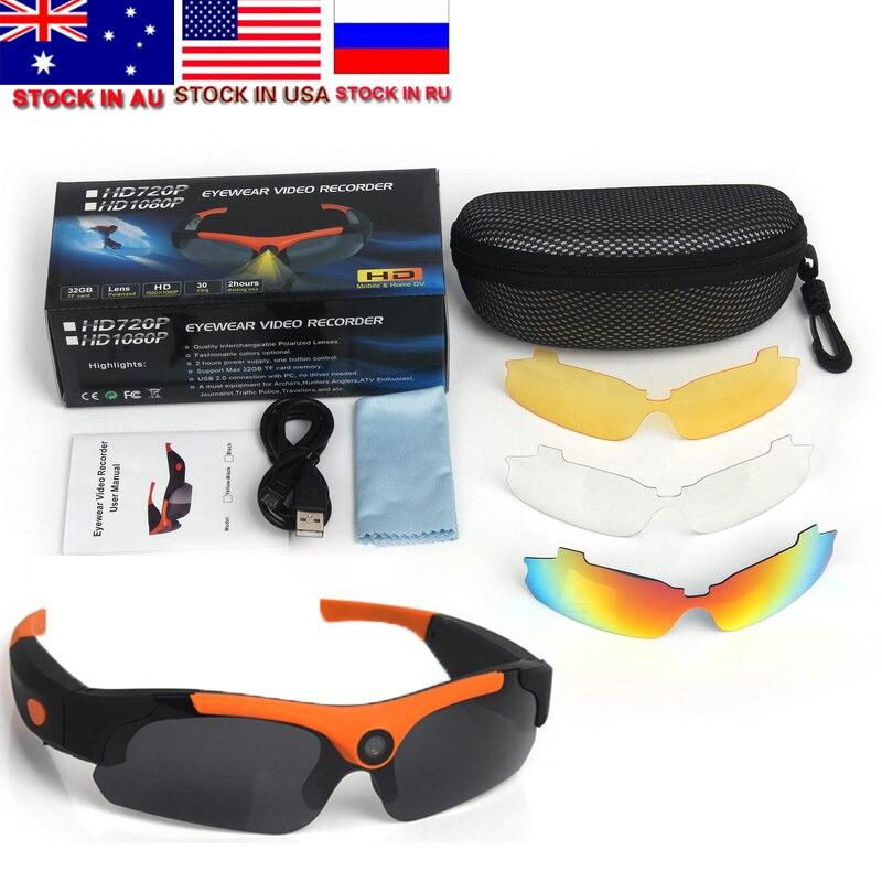 1080P HD Cycling Polarized Sunglasses Driver Eyewear 120 Degrees DVR Video Camera Glasses Eyewear Replace Polarized Lens все цены