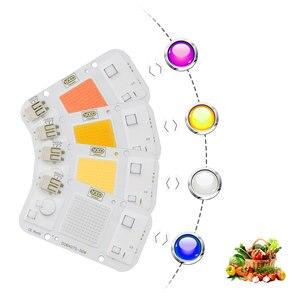 Image 2 - 새로운 dob 디 밍이 가능한 led 성장 빛 램프 전체 스펙트럼 입력 220 v ac 20 w 30 w 50 w 실내 식물 seedling 종에 대 한 성장 및 꽃 cob 칩