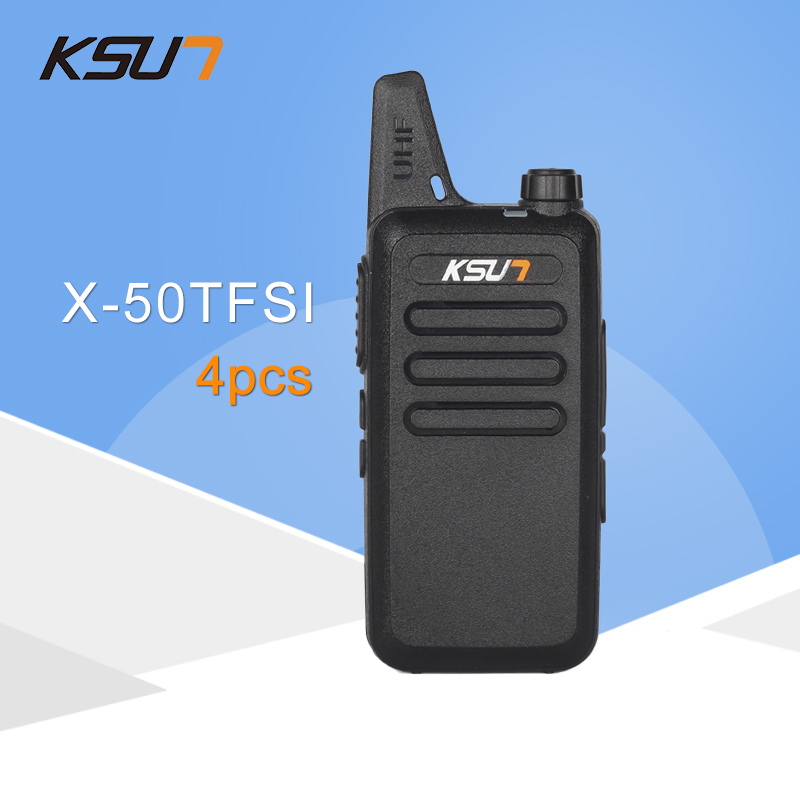 4 PCS KSUN X 50TFSI Ham Two Way Radio Walkie Talkie Dual Band Transceiver BUXUN