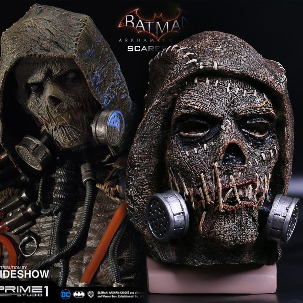 Batman Mask Suicide Squad Scarecrows Masks Dr. Jonathan Crane Mask Blocks DC Batman Superhero Mask Halloween Party Prop (10)