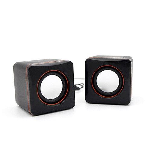 USB Mini Computer Speaker Desktop Portable Small Speaker Portable Speaker Cheap Two Speakers With Retail Package MP3