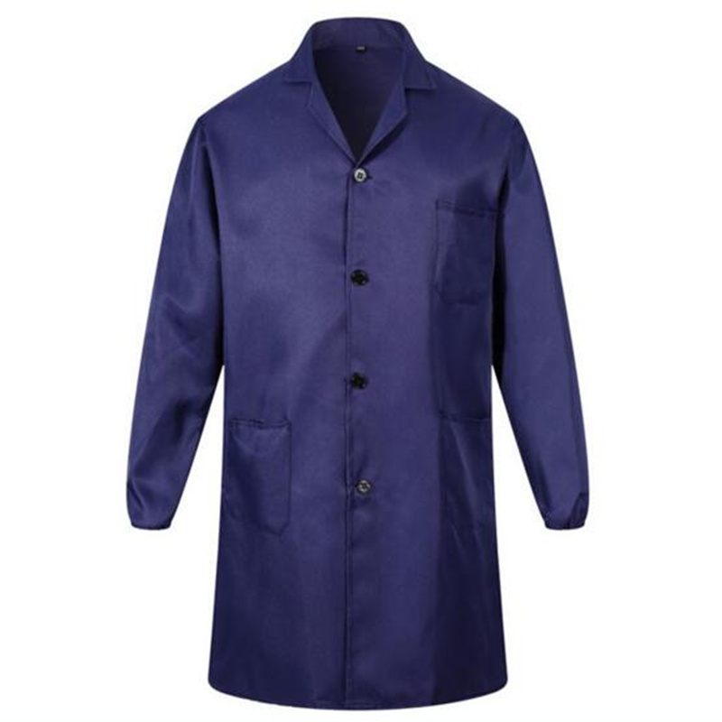 Wear resistance of Work clothes,turn down collar the long jacket long sleeve loose Work-blouse blue plus