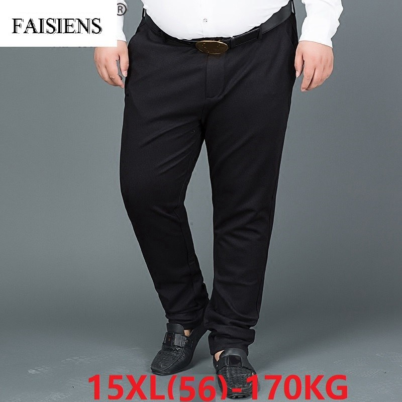 Formal Men Plus Size Big 8XL 9XL 10XL Suit Pants 12XL 14XL 15XL Business Office Pants Straight 48 50 52 54 58 Oversize Trousers