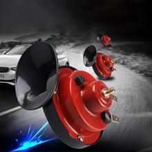 все цены на 2Pcs Loud Dual-tone Waterproof Universal 12V Auto Car Vehicle  Snail Air Horn онлайн