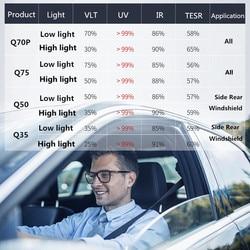 2 Mil Regolazione Automatica Nano Ceramica Fotocromatiche Window Tint Pellicola A Prova di UV di Alta Riduzione Del Calore Pellicola Intelligente Stickers Murali 152x60 centimetri