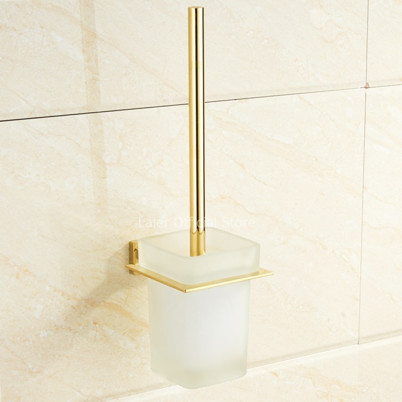 Gold simple Toilet Brush Bathroom Cleaning Holder With Toilet Brush Holder
